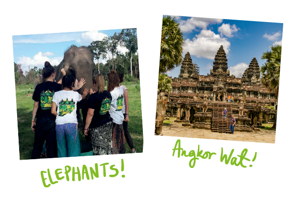 Camp Cambodia! Experience Angkor Wat, Elephant Selfies and help teach the needy in Cambodian Schools!